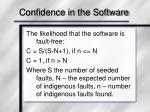 confidence in the software