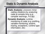 static dynamic analysis