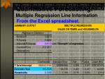 quantitative forecasting multiple regression line information