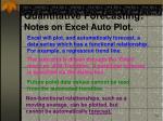 quantitative forecasting notes on excel auto plot