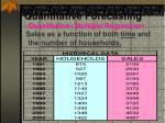 quantitative forecasting7