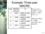 example three year macrs