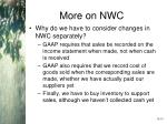 more on nwc