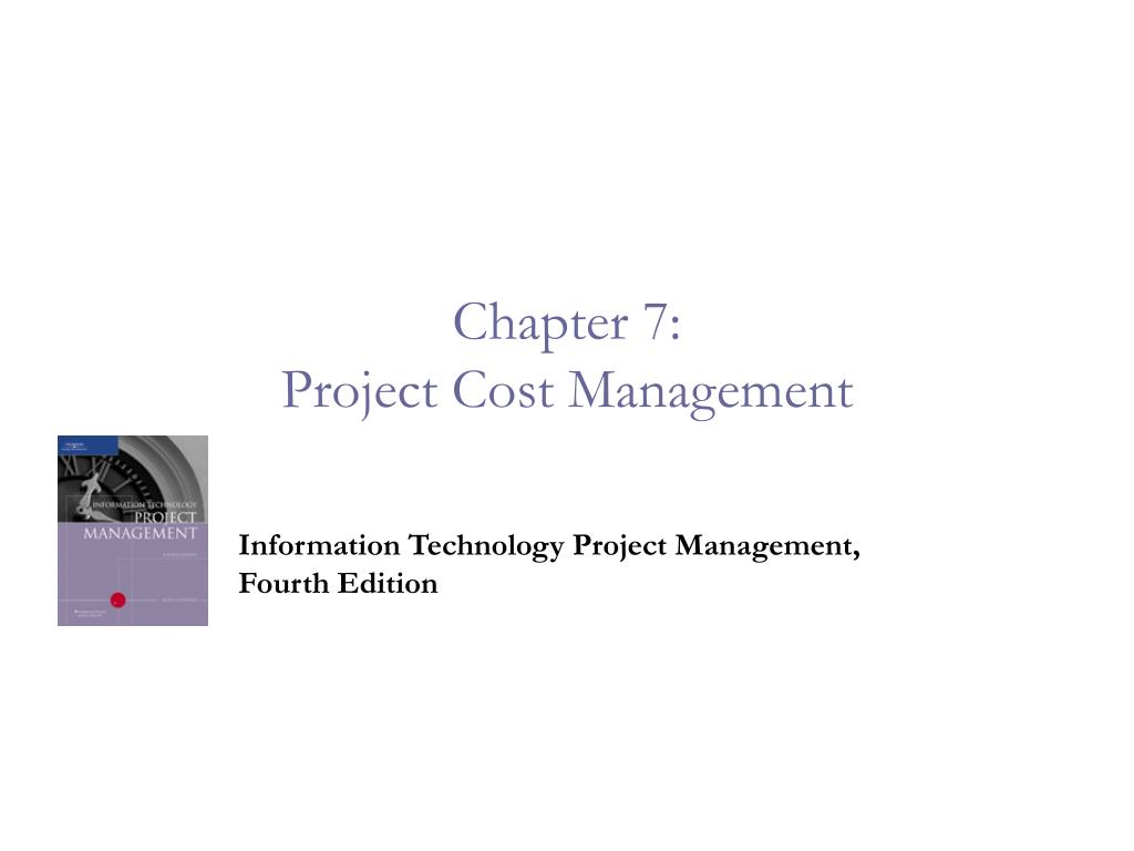 chapter 7 project cost management l.
