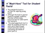 a must have tool for student poets