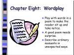 chapter eight wordplay