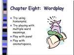 chapter eight wordplay56