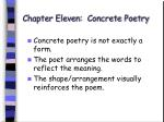 chapter eleven concrete poetry