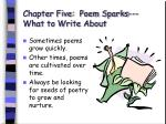 chapter five poem sparks what to write about40
