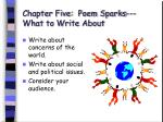 chapter five poem sparks what to write about42