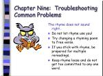 chapter nine troubleshooting common problems