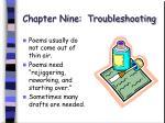 chapter nine troubleshooting58