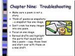 chapter nine troubleshooting60