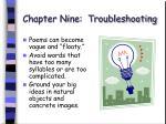 chapter nine troubleshooting62