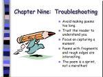 chapter nine troubleshooting63