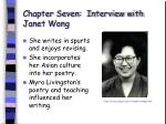 chapter seven interview with janet wong