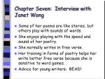 chapter seven interview with janet wong54