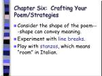 chapter six crafting your poem strategies47