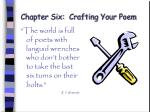 chapter six crafting your poem