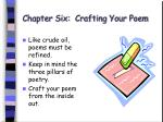 chapter six crafting your poem45