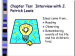 chapter ten interview with j patrick lewis65