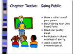 chapter twelve going public79