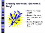 crafting your poem end with a bang52