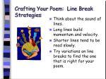 crafting your poem line break strategies49