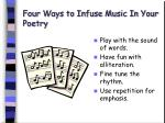 four ways to infuse music in your poetry