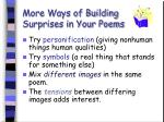 more ways of building surprises in your poems