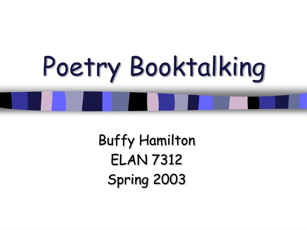 poetry booktalking l.