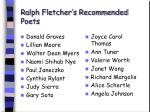 ralph fletcher s recommended poets82