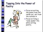 tapping into the power of poetry