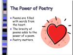 the power of poetry