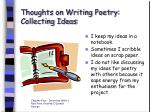 thoughts on writing poetry collecting ideas