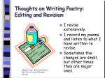 thoughts on writing poetry editing and revision