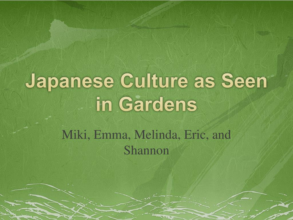 japanese culture as seen in gardens l.