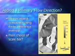 aspect primary flow direction