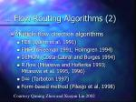 flow routing algorithms 2