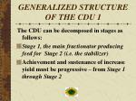 generalized structure of the cdu 1