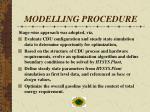 modelling procedure