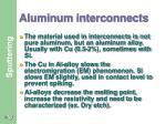 aluminum interconnects