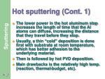 hot sputtering cont 1