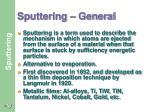sputtering general