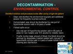 decontamination environmental control