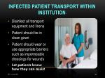 infected patient transport within institution26