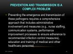 prevention and transmission is a complex problem