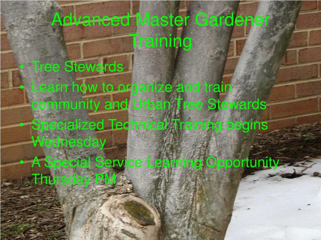 Advanced Master Gardener Training