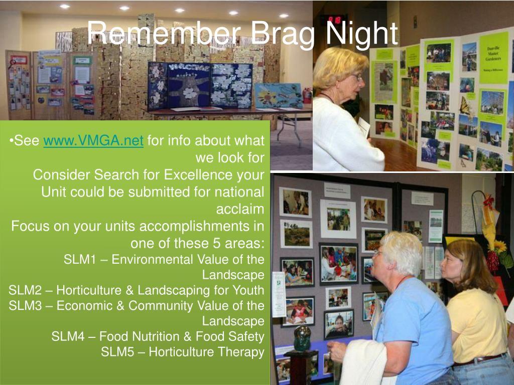 Remember Brag Night