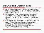 mplab and default code
